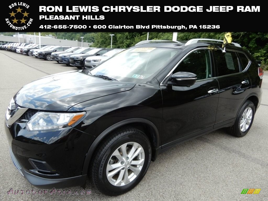 Super Black / Charcoal Nissan Rogue SV AWD