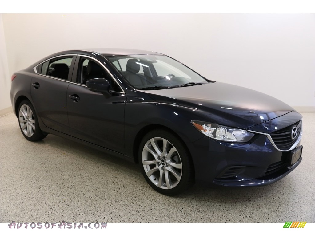 2017 Mazda6 Touring - Deep Crystal Blue Mica / Black photo #1
