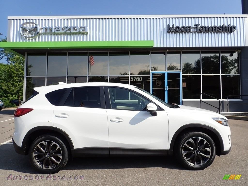 2016 CX-5 Grand Touring AWD - Crystal White Pearl Mica / Parchment photo #1