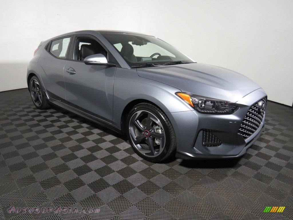 2019 Veloster Turbo - Sonic Silver / Black photo #3