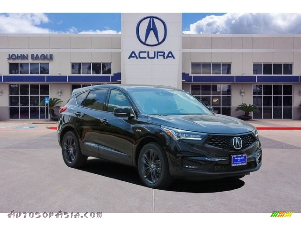 2020 RDX A-Spec - Majestic Black Pearl / Red photo #1