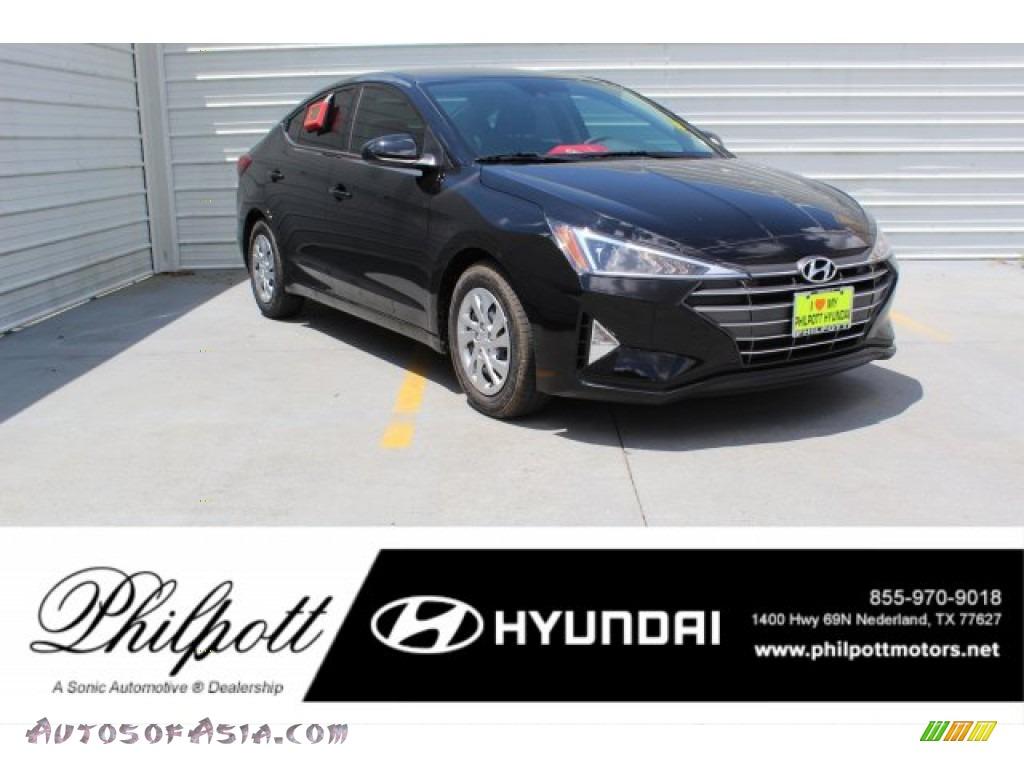 Phantom Black / Black Hyundai Elantra SE