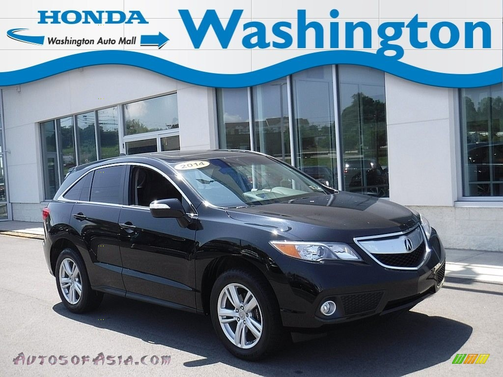 2014 RDX Technology AWD - Crystal Black Pearl / Ebony photo #1