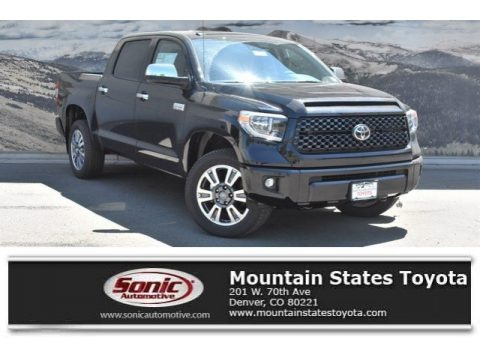 Midnight Black Metallic 2019 Toyota Tundra Platinum CrewMax 4x4