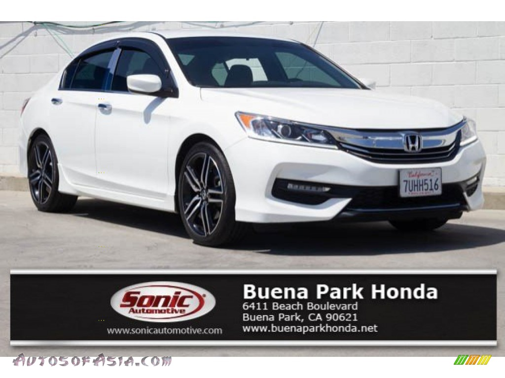 2017 Accord Sport Sedan - White Orchid Pearl / Black photo #1