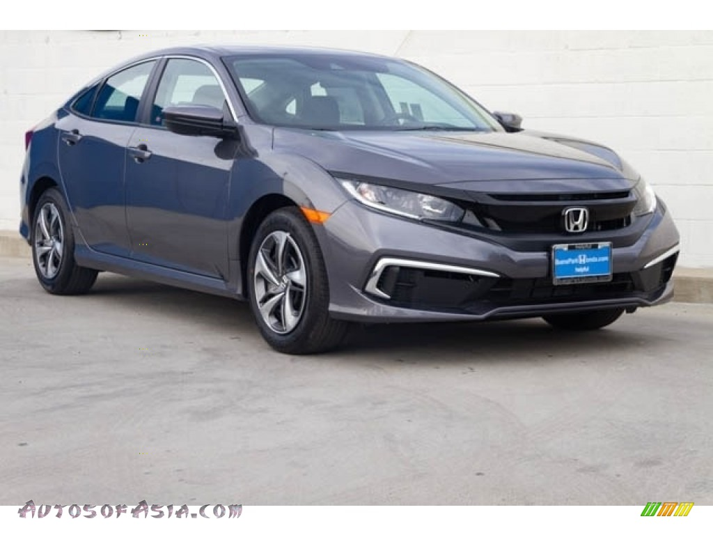 2019 Civic LX Sedan - Modern Steel Metallic / Black photo #1