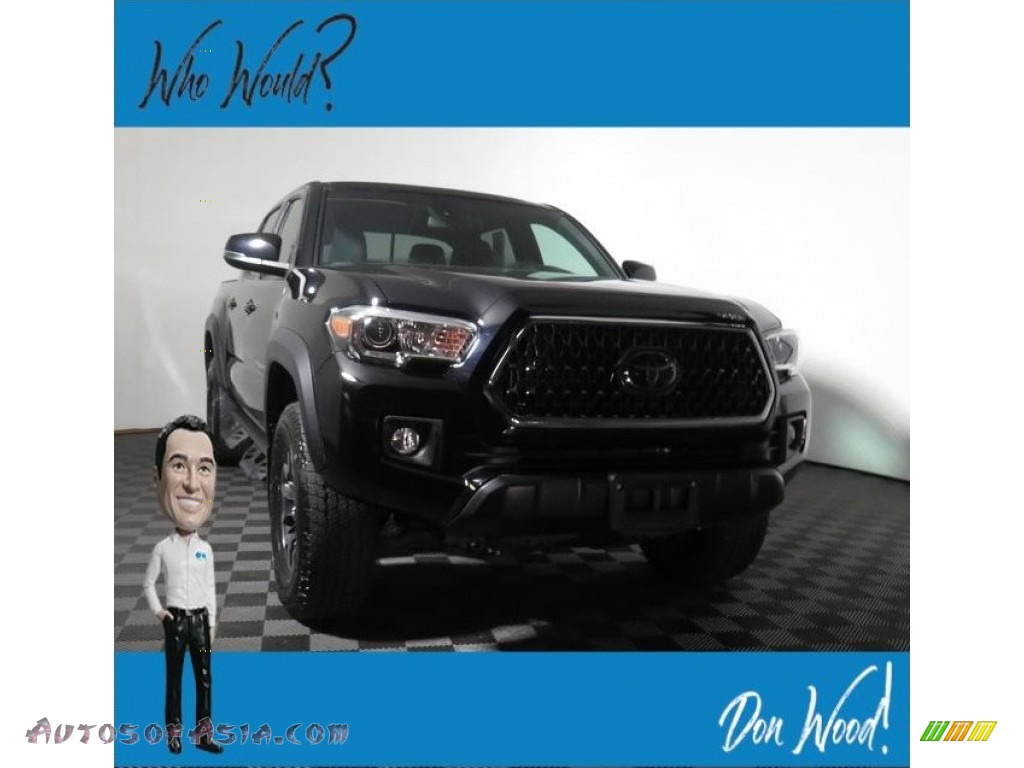 2018 Tacoma TRD Sport Double Cab 4x4 - Midnight Black Metallic / Graphite w/Gun Metal photo #1