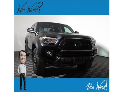 Midnight Black Metallic 2018 Toyota Tacoma TRD Sport Double Cab 4x4