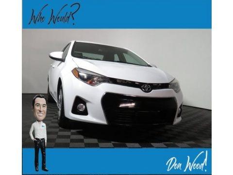 Super White 2015 Toyota Corolla S Plus