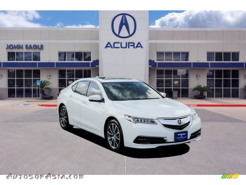 2017 TLX V6 Technology Sedan - Bellanova White Pearl / Ebony photo #1