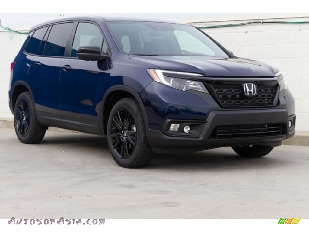 Obsidian Blue Pearl / Black Honda Passport Sport
