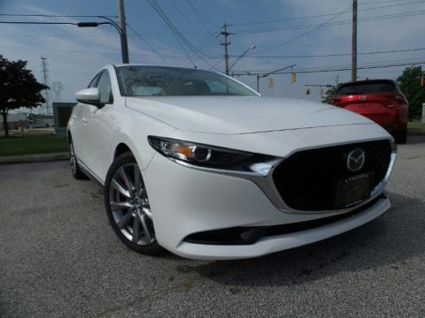Snowflake White Pearl Mica 2019 Mazda MAZDA3 Select Sedan