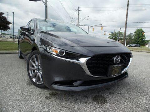 Machine Gray Metallic 2019 Mazda MAZDA3 Preferred Sedan