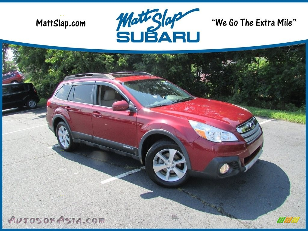 2013 Outback 2.5i Limited - Venetian Red Pearl / Warm Ivory Leather photo #1