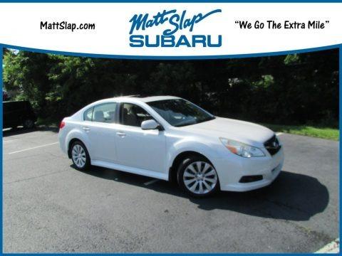 Satin White Pearl 2011 Subaru Legacy 2.5i Limited