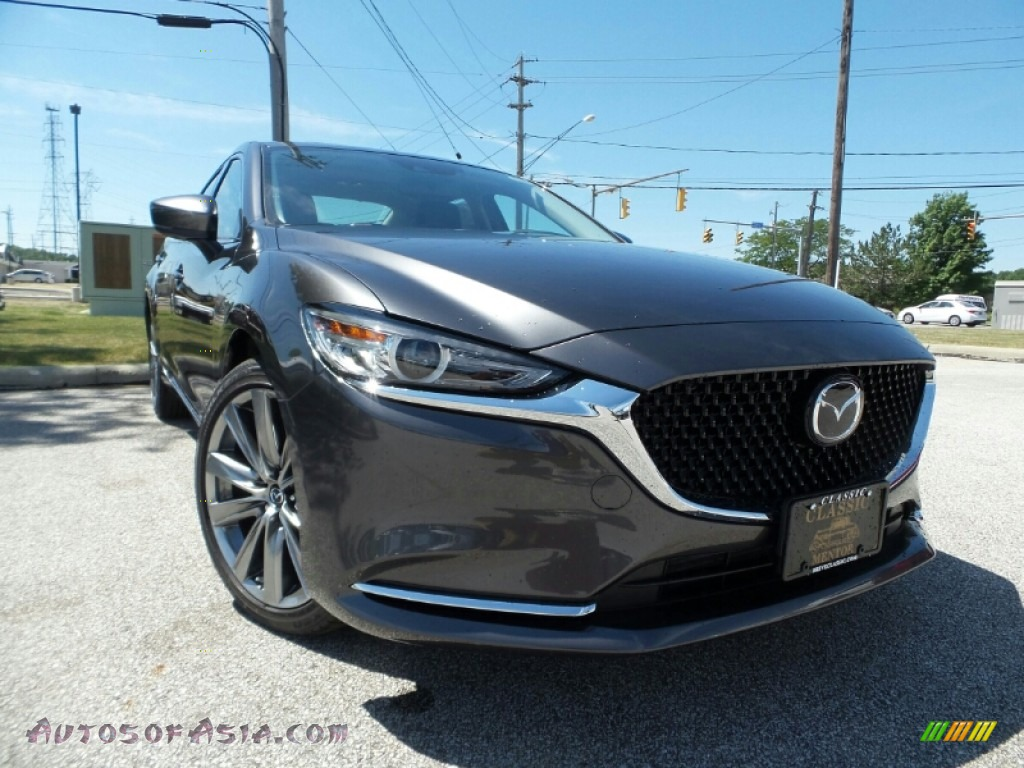 Machine Gray Metallic / Black Mazda Mazda6 Grand Touring Reserve