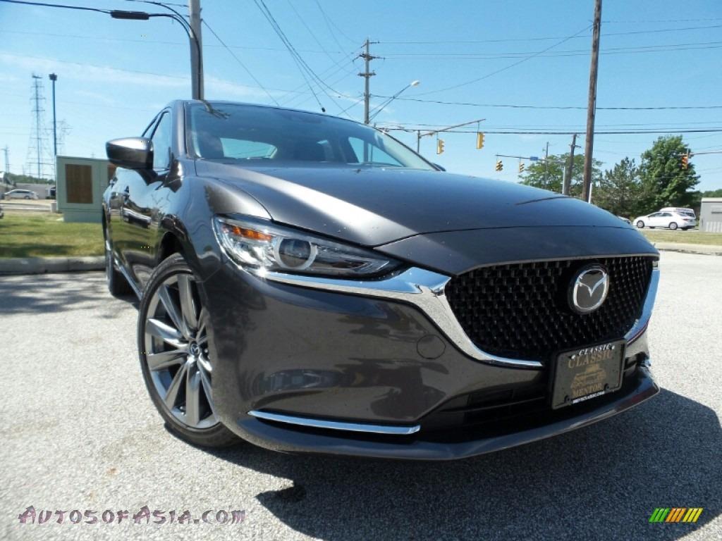 2019 Mazda6 Grand Touring Reserve - Machine Gray Metallic / Black photo #1