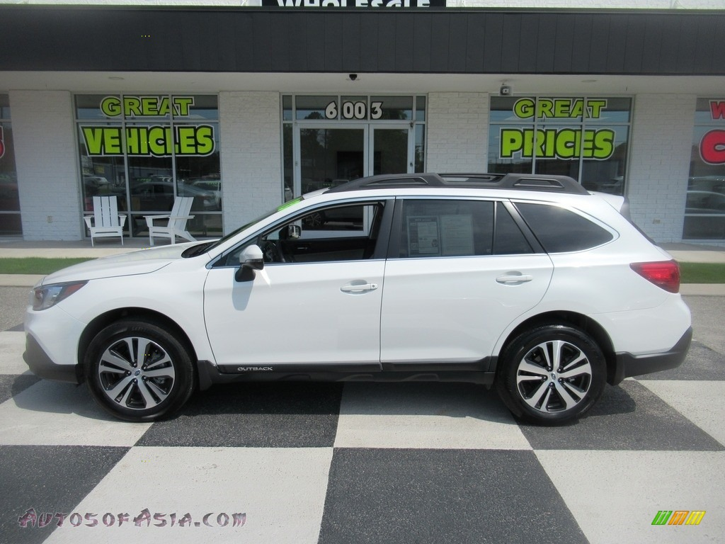 2018 Outback 2.5i Limited - Crystal White Pearl / Ivory photo #1