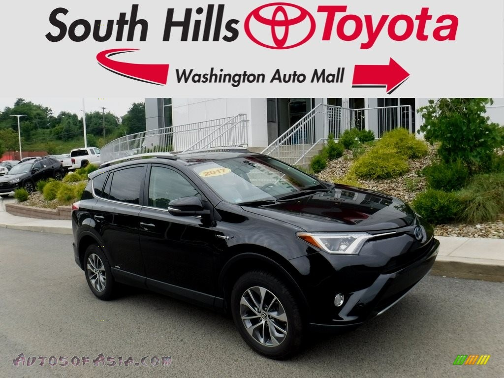 2017 RAV4 XLE AWD Hybrid - Black / Ash photo #1