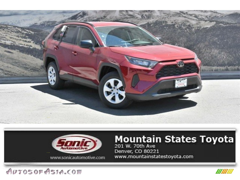 2019 RAV4 LE AWD - Ruby Flare Pearl / Black photo #1
