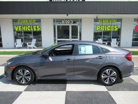 Modern Steel Metallic 2017 Honda Civic EX-L Sedan