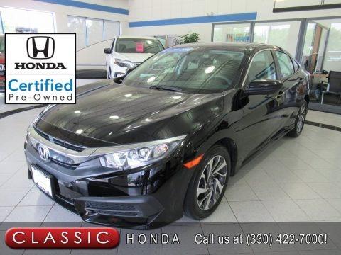 Crystal Black Pearl 2016 Honda Civic EX Sedan
