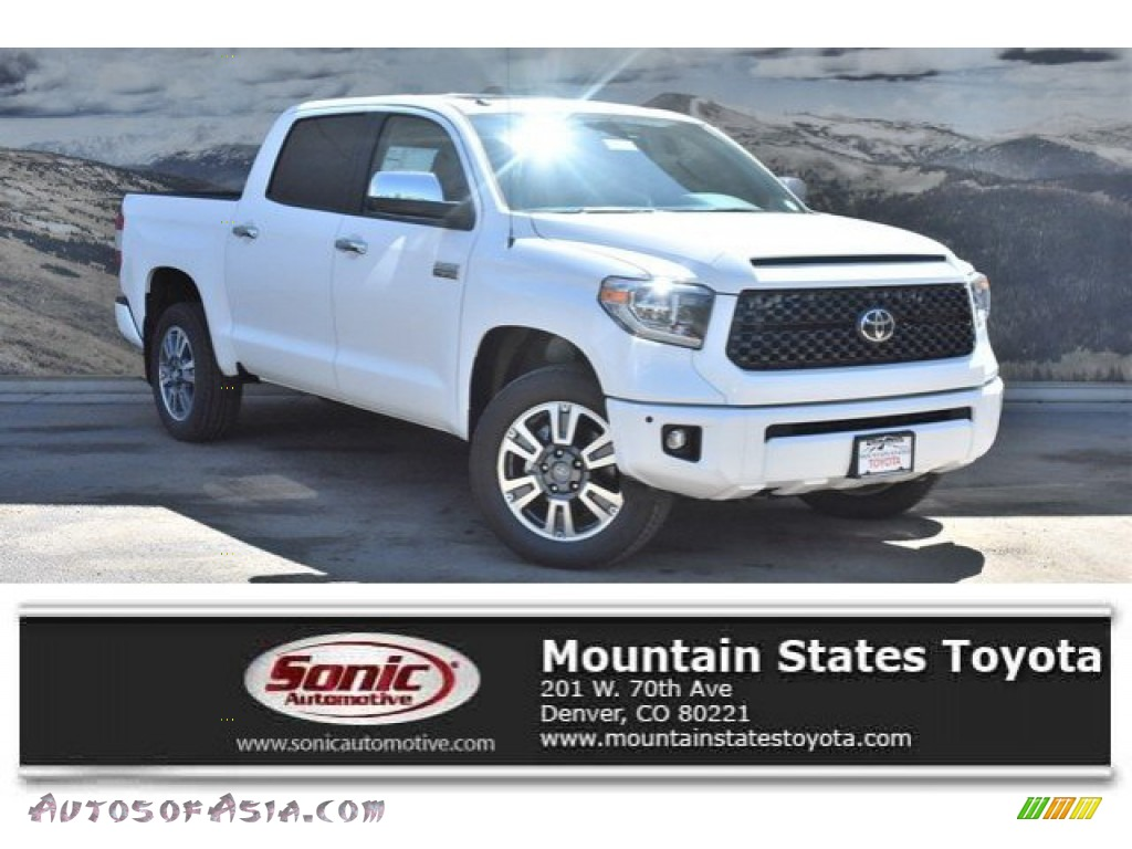 Super White / Black Toyota Tundra Platinum CrewMax 4x4