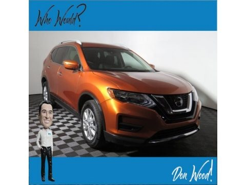 Monarch Orange Metallic 2019 Nissan Rogue SV AWD