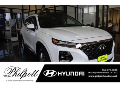 Quartz White 2020 Hyundai Santa Fe Limited AWD