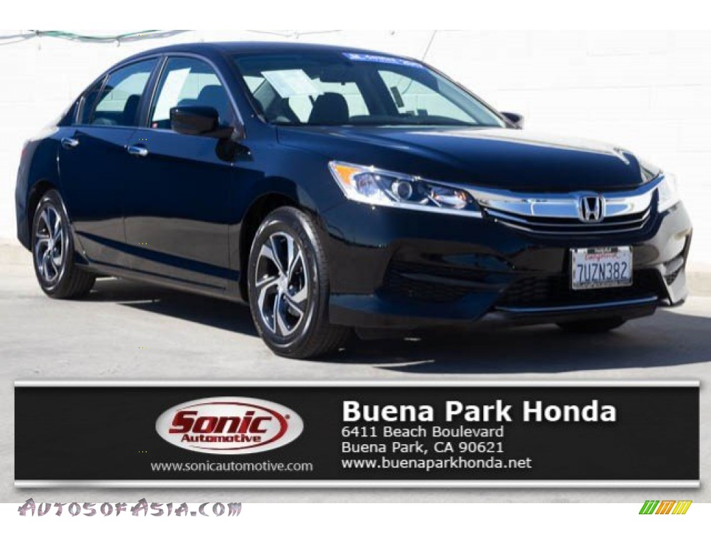 2017 Accord LX Sedan - Crystal Black Pearl / Black photo #1