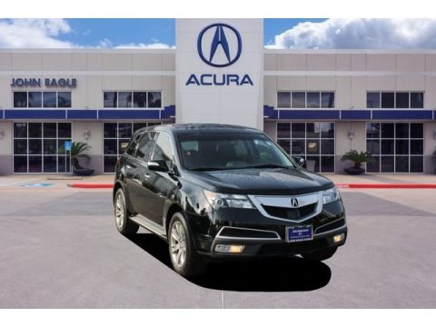Crystal Black Pearl 2012 Acura MDX SH-AWD Advance