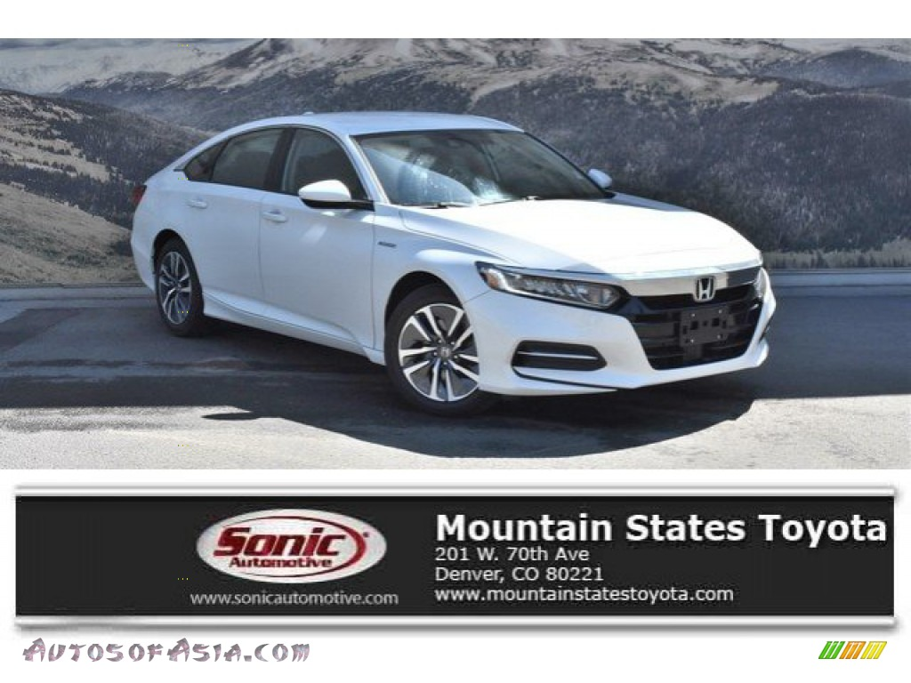 2019 Accord Hybrid Sedan - Platinum White Pearl / Black photo #1