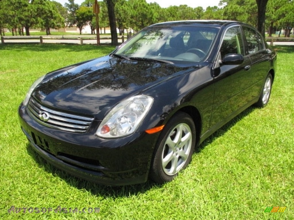 2004 G 35 x Sedan - Black Obsidian / Graphite photo #1