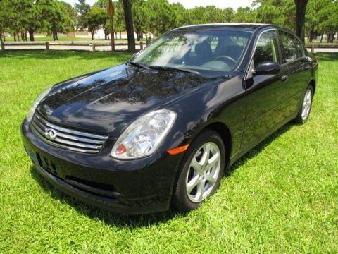 Black Obsidian 2004 Infiniti G 35 x Sedan