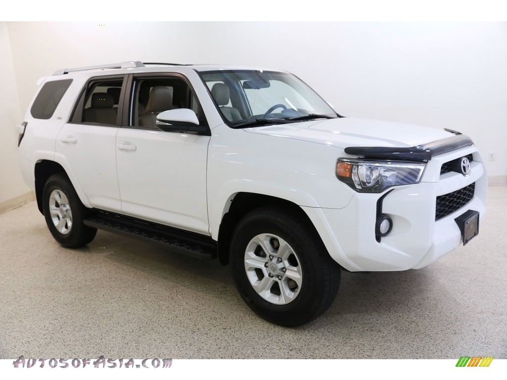 2015 4Runner SR5 Premium 4x4 - Super White / Sand Beige photo #1