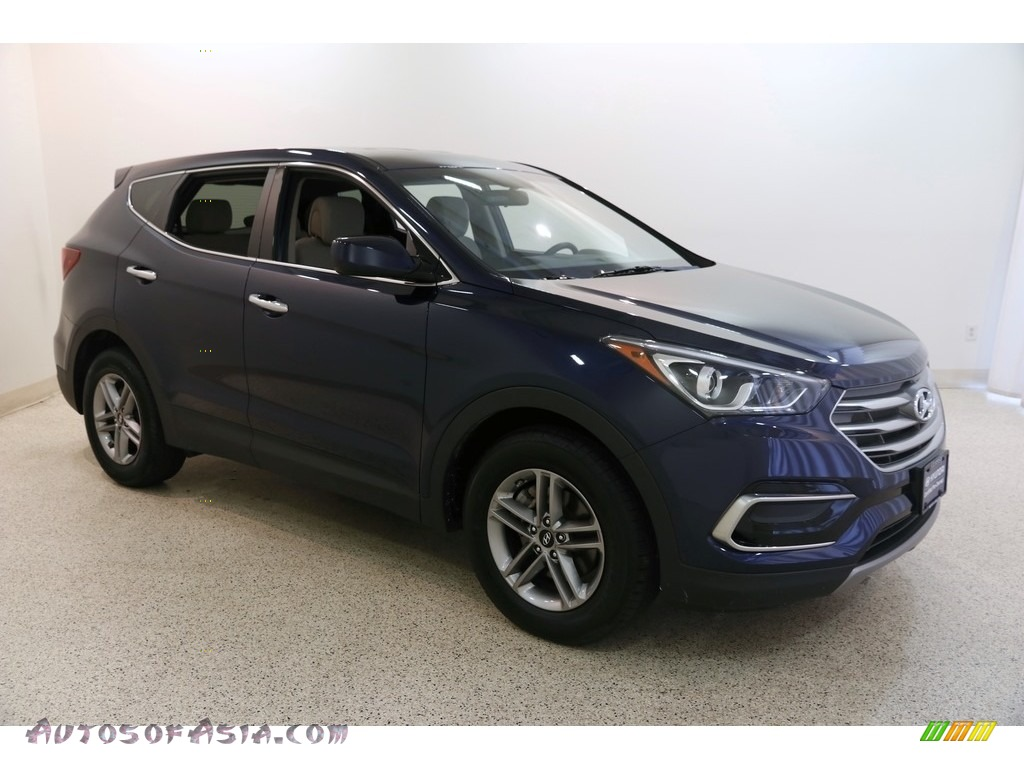 2017 Santa Fe Sport AWD - Nightfall Blue / Beige photo #1