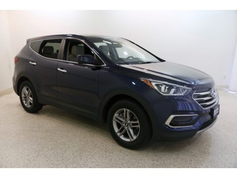 Nightfall Blue 2017 Hyundai Santa Fe Sport AWD