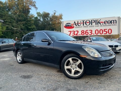 Black Obsidian 2003 Infiniti G 35 Sedan