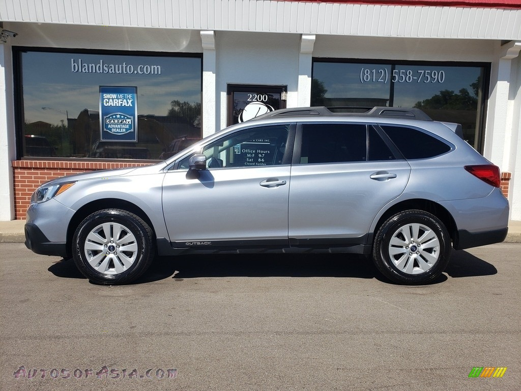 2017 Outback 2.5i Premium - Ice Silver Metallic / Slate Black photo #1