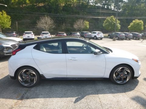 Chalk White 2020 Hyundai Veloster Turbo Ultimate