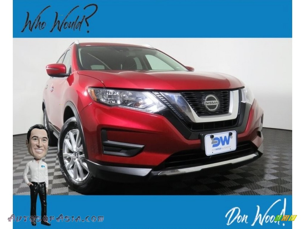 2019 Rogue SV AWD - Scarlet Ember / Charcoal photo #1