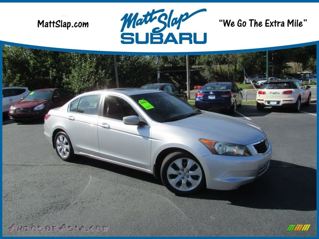 2008 Accord EX-L Sedan - Alabaster Silver Metallic / Gray photo #1