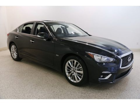 Midnight Black 2019 Infiniti Q50 3.0t AWD