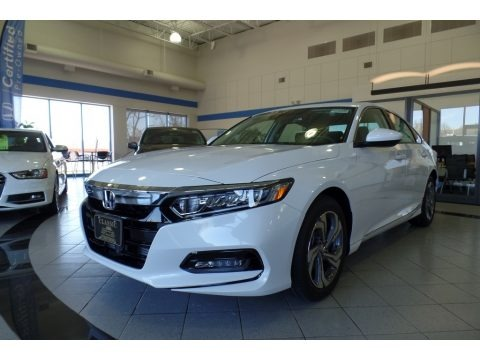 Platinum White Pearl 2019 Honda Accord EX Sedan