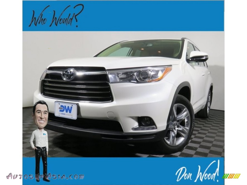 2016 Highlander Limited AWD - Blizzard Pearl / Almond photo #1