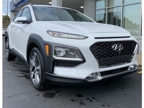 Chalk White 2020 Hyundai Kona Ultimate AWD