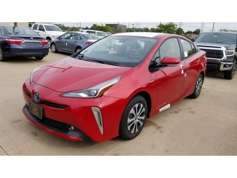 Supersonic Red 2020 Toyota Prius XLE AWD-e