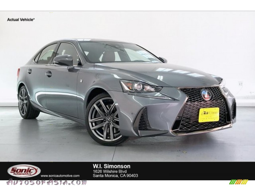 2019 IS 300 F Sport - Nebula Gray Pearl / Rioja Red photo #1