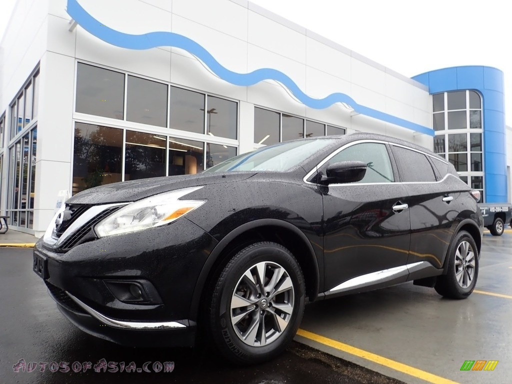 2017 Murano SV AWD - Magnetic Black / Cashmere photo #1