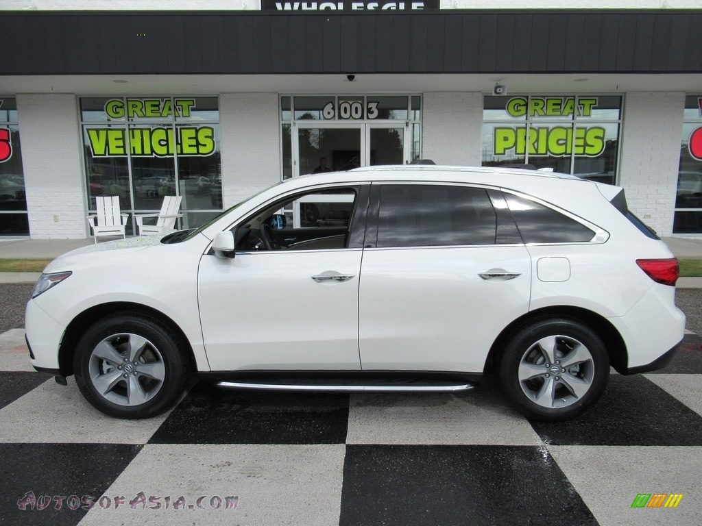 2014 MDX  - White Diamond Pearl / Parchment photo #1